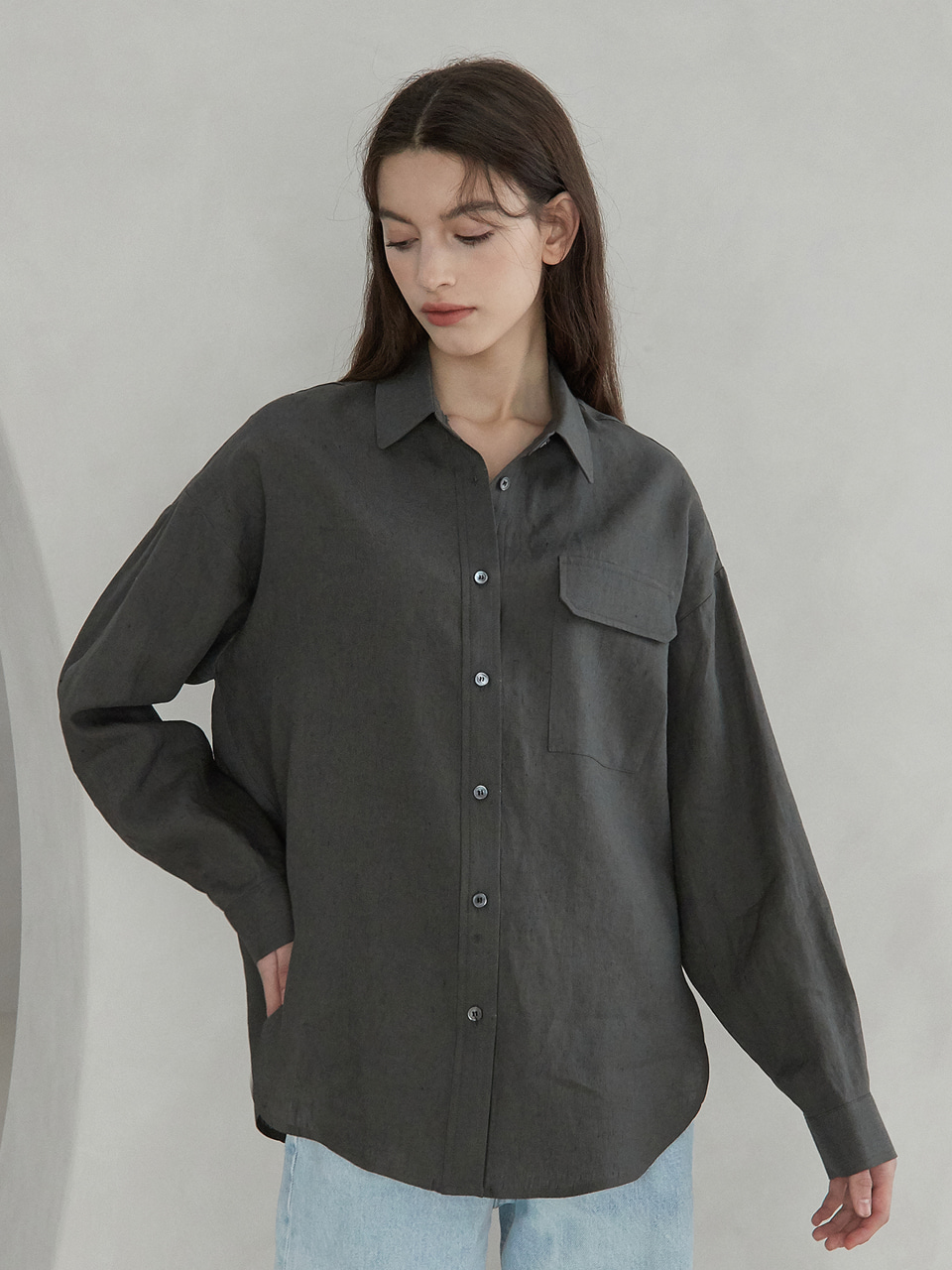 daily linen shirts (charcoal)